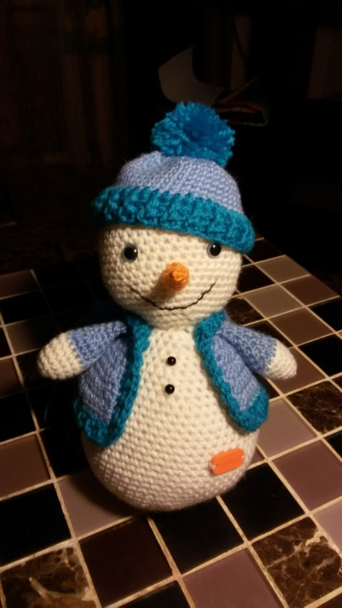 Снеговик из мандаринов своими руками