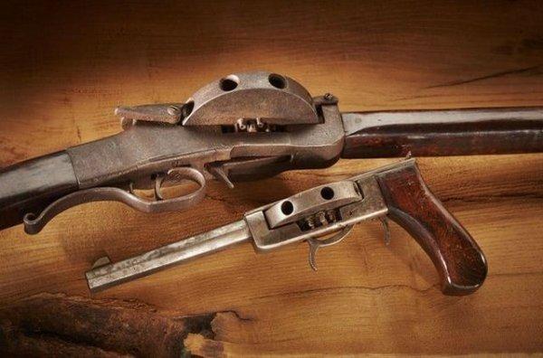 Необычные револьверы и винтовки Джона Кохрэйна