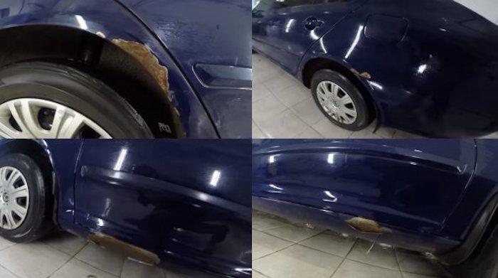 Состояние кузова 6-летней Skoda Octavia удивило автомобилистов