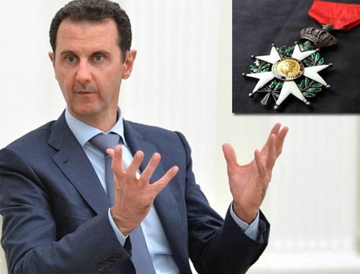 Асад вернул во Францию орден Почетного легиона