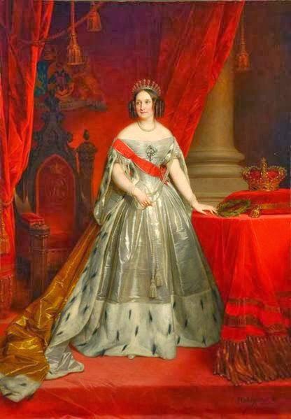 Неизвестный художник Королева Нидерландов Анна Павловна парадный портрет 1849. / Фото: www.gogmsite.net
