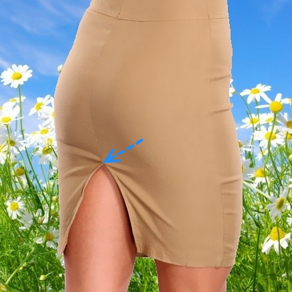 Простой способ укрепить разрез на юбке
