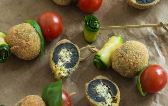 Фаршированные оливки с хрустящей корочкой
