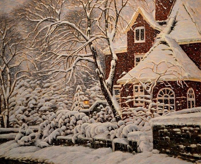 Рождественский ноктюрн в красках от Ричарда Савойя