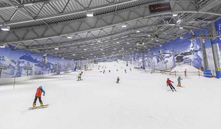 «Снежком» – первый в России и крупнейший в Европе всесезонный горнолыжный комплекс Красногорск, Павшинская пойма, Снежком, горнолыжный комплекс