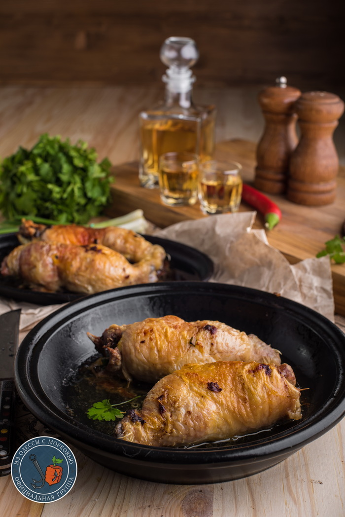 Простые вещи: окорочка с зеленым луком и яйцом. Из Одессы с морковью, Кулинария, Еда, Длиннопост, Фотография, Рецепт