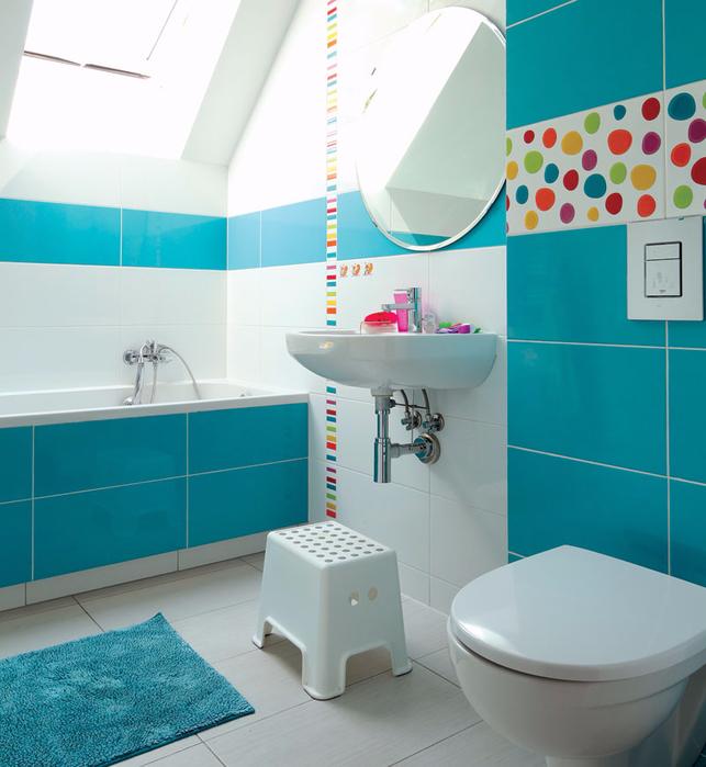 Дизайн ванной комнаты бирюзовой