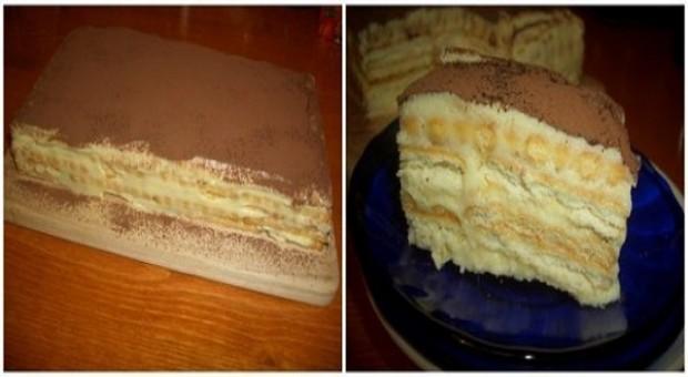 Торт «А-ля тирамису» — бюджетно и вкусно!