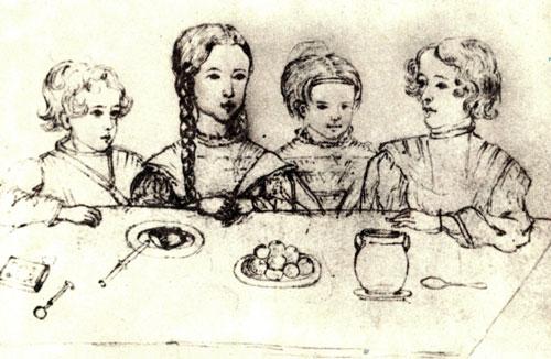 Файл:. Детей А. С. Пушкина (рисование Friesenhof Н.И., 1839) JPG