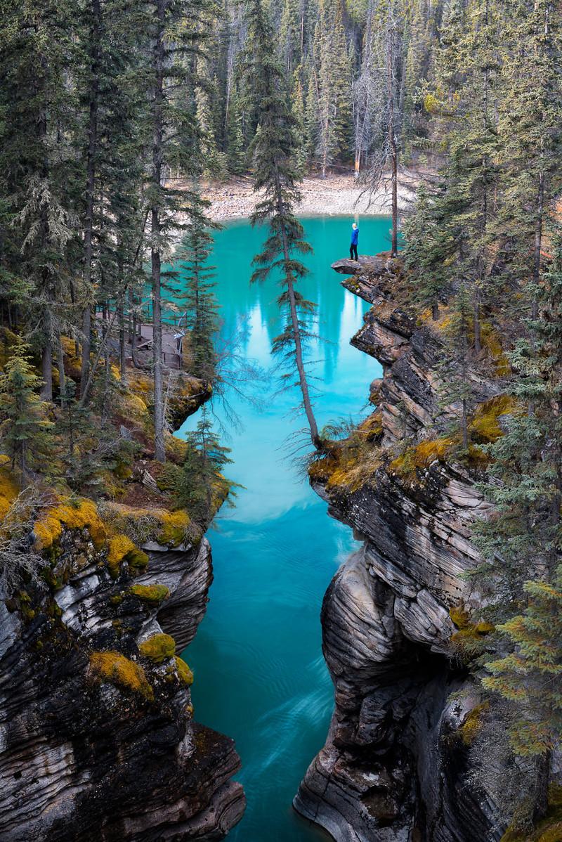 Водопад Атабаска, Канада Северная Америка, путешествие, фотография