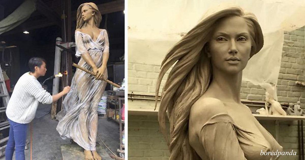 На первый взгляд это скульптура времен Возрождения, но присмотритесь внимательнее