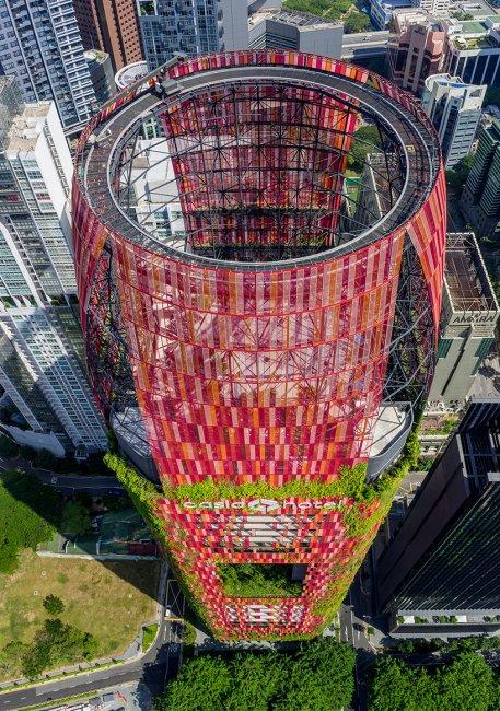 «Зеленая» башня Oasia Hotel в Сингапуре (12 фото)