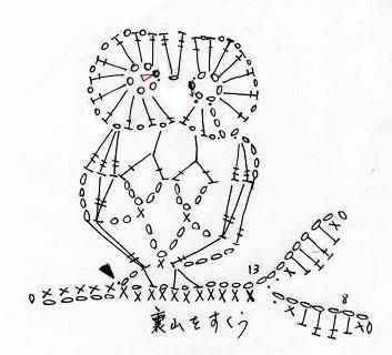 Схема вязания зверей крючком 81
