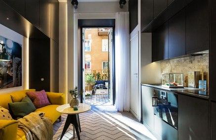 """Жалуетесь на тесноту в """"хрущебе""""? Бывает и много меньше — микро-квартира в Швеции (16 кв. м)"""