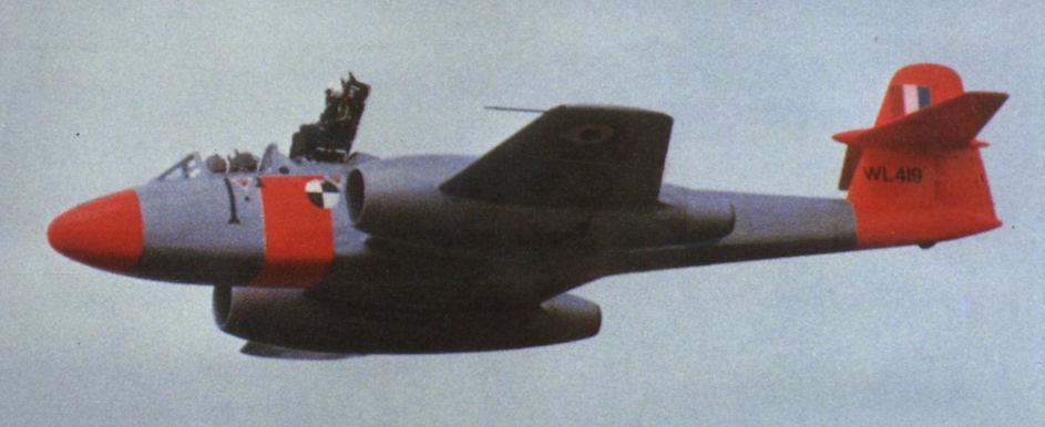 Катапульту для F-35 испытали на британском реактивном истребителе 1940-х годов