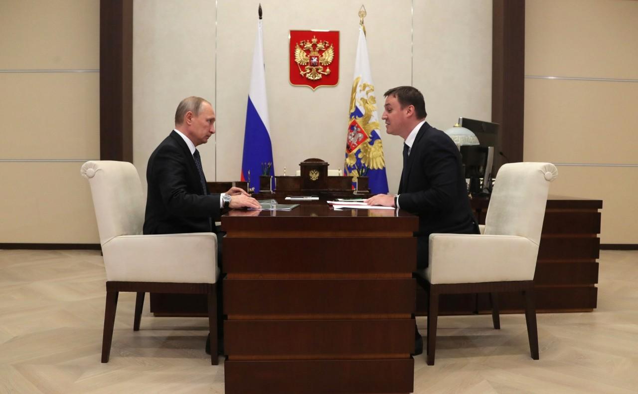 Встреча с главой Россельхозбанка Дмитрием Патрушевым