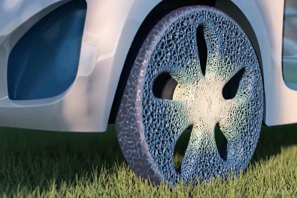 Автомобильное колесо Michelin Vision напечатают на 3D-принтере