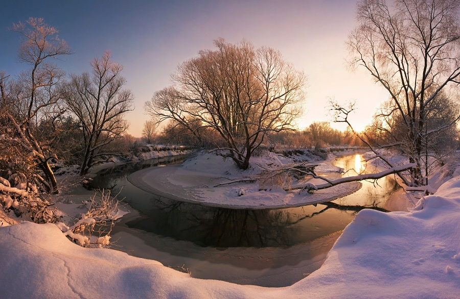 Фотография Winter Morning at the Odra River автор Jan Bainar на 500px