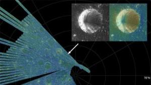 Космический зонд LRO «увидел» лед у северного полюса Луны