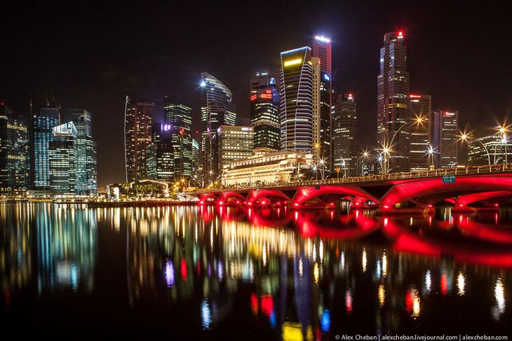 Ночные виды Сингапура