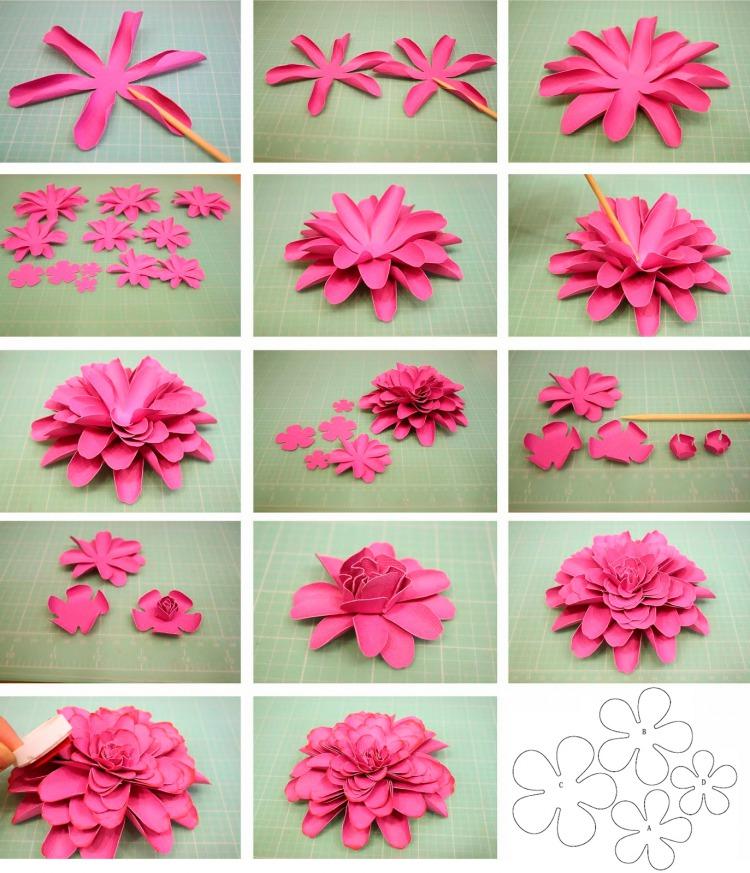 Как своими руками сделать из бумаги цветы своими руками легкие