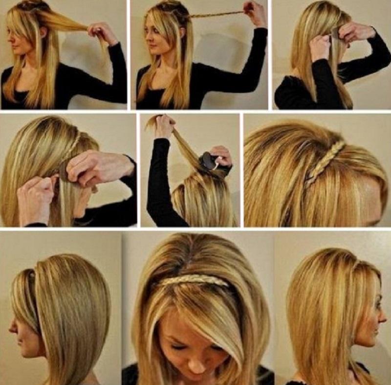 Прически на средние волосы на каждый день как сделать