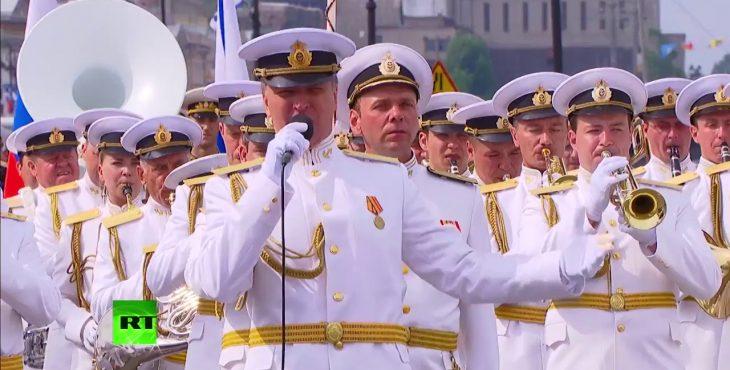 Военно-морской парад в честь Дня ВМФ. Прямая видео трансляция