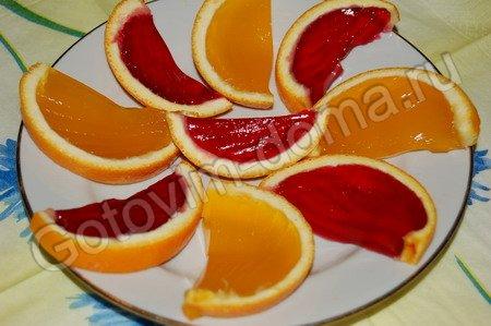 рецепт Желе в апельсинах // рецепты с фотографиями