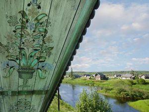Домовые росписи Русского Севера — фотографии Николая Телегина