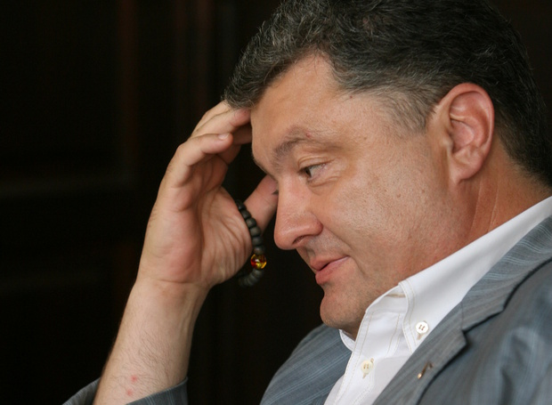 Украина зафыркала на Порошенко .