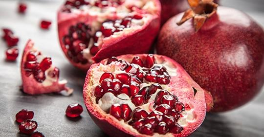 Уровень антиоксидантов в гранатах в 3 раза выше, чем в красном вине, зеленом чае и ягодах