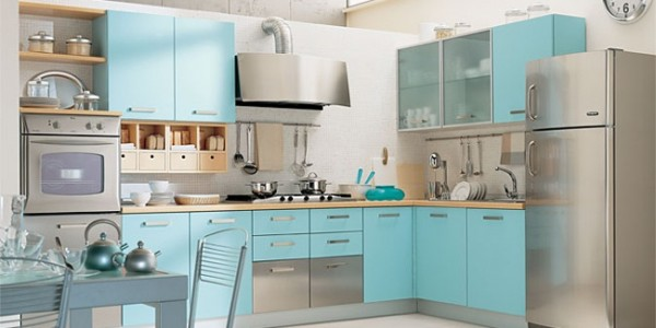 голубые кухни-8
