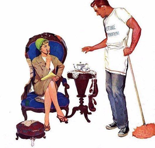 Самая полезная вещь в доме — виноватый муж!...  Улыбнемся)))