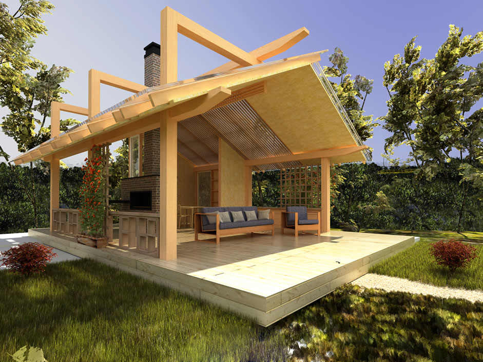 Летняя кухня на даче своими руками, пошагово строительство и обустройство