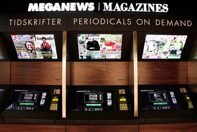 В Швеции газетные киоски научились сами печатать журналы