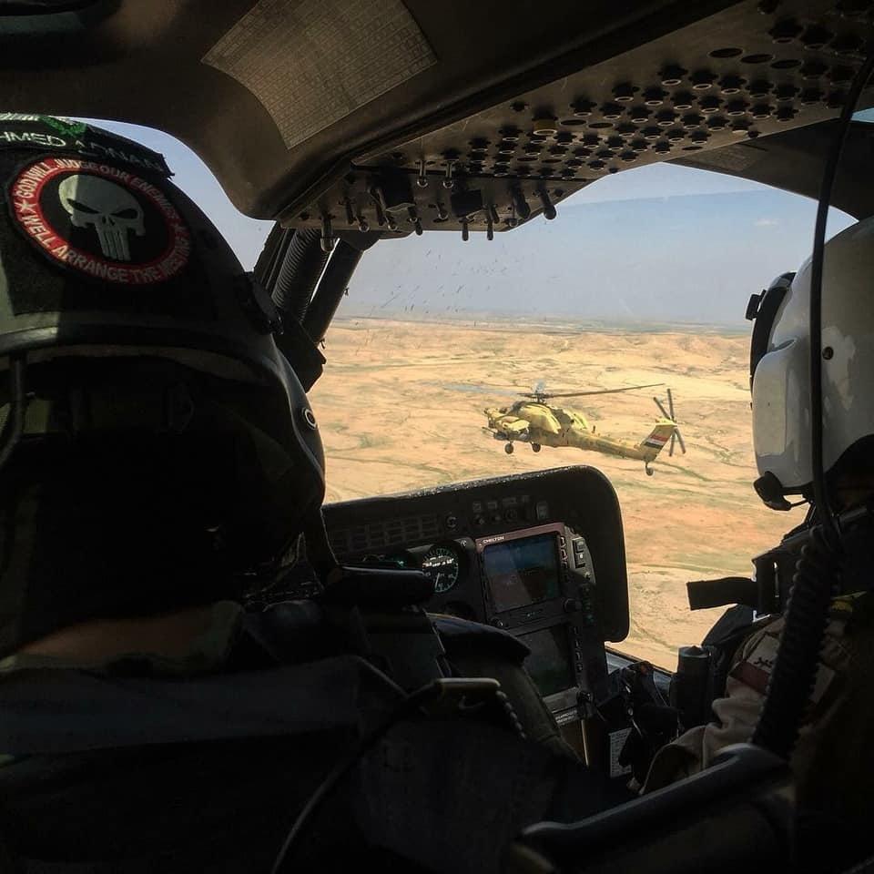 Ударные вертолеты Ми-28НЭ и Ми-35М в армейской авиации Ирака