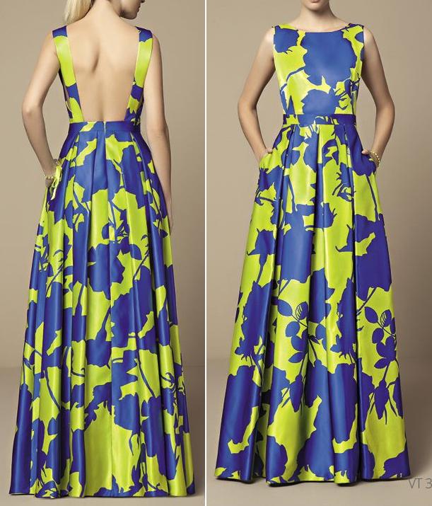 Платье в пол с обнаженной спиной