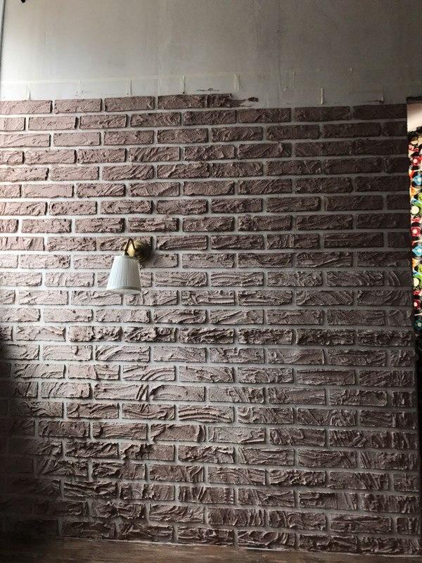 Имитация кирпичной стены это очень просто