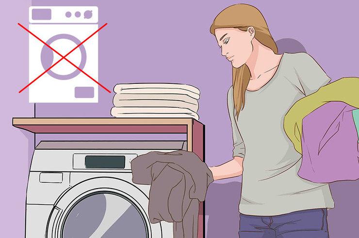 Какие вещи не стоит стирать в машинке