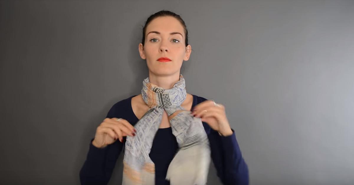 20 интересных способов красиво завязать шарф на пальто