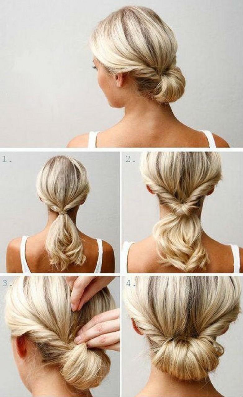 Как сделать прическу с средней длины волос