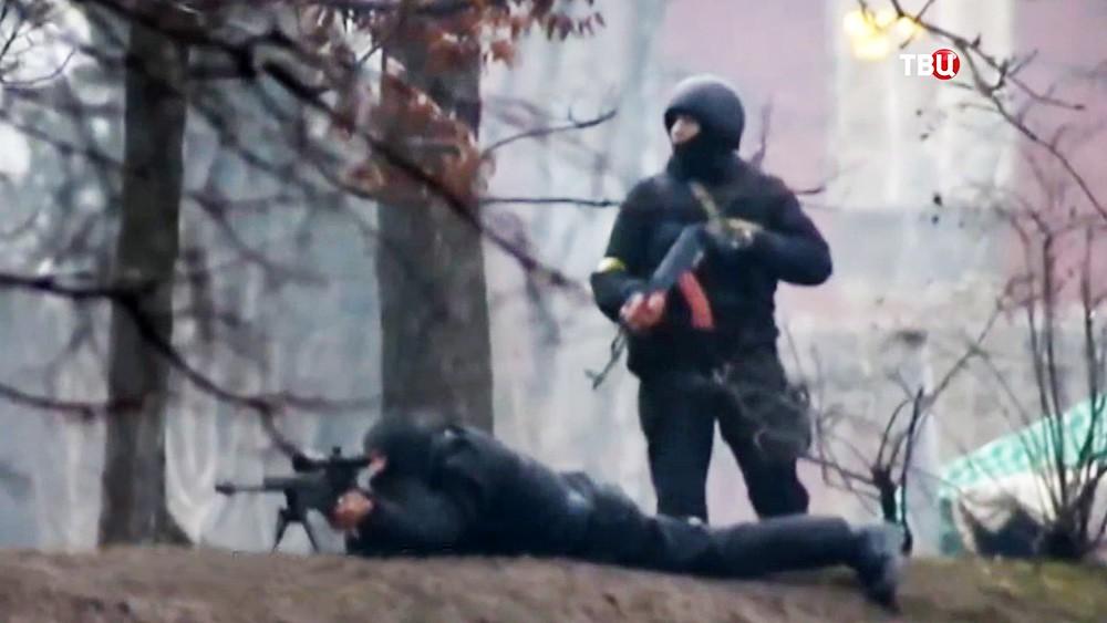 Грузинские снайперы рассказали об американском инструкторе на Майдане