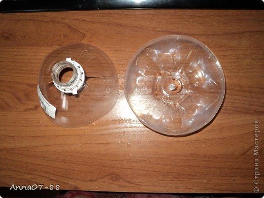 Мастер-класс Новый год Новогодняя карусель Бумага гофрированная Бутылки пластиковые Клей фото 5