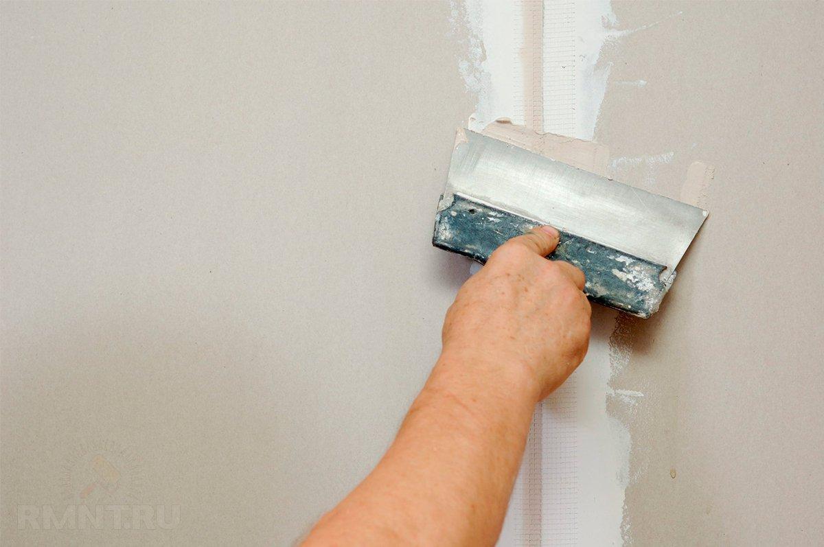 Как шпаклевать стены по гипсокартону