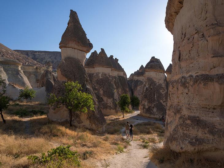 Скалы Долины Пашабаг в Каппадокии. Турция. Фото