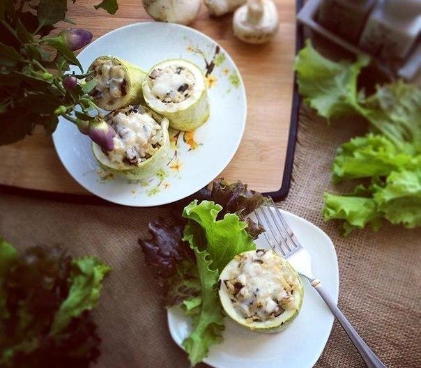Быстрый рецепт приготовления фаршированных кабачков