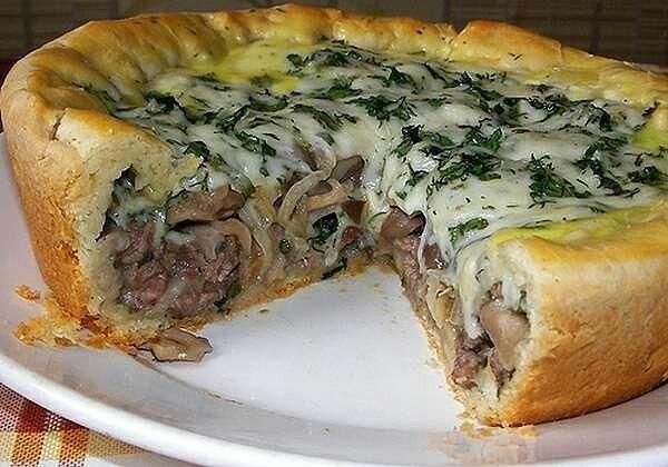 Пирог с сырым фаршем в духовке пошаговый рецепт с