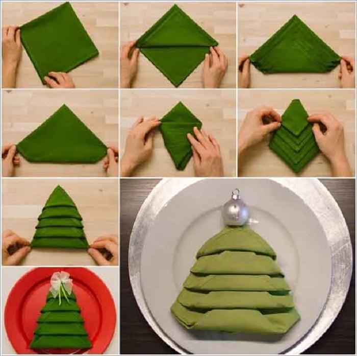 Как сделать красивые салфетки для нового года