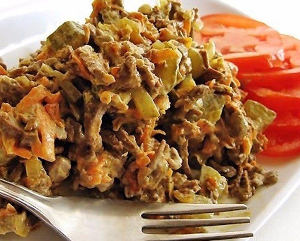 Салат из печени «королевский» по-британски
