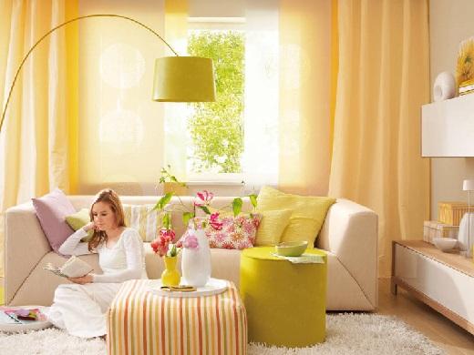 Влияние цвета в интерьере. Желтый цвет.